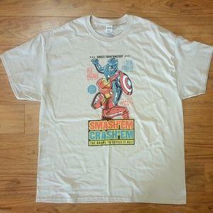 Iron Man Captain America Tee